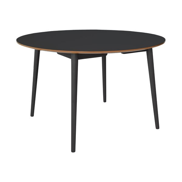 Černý  jídelní stůl s dubovými nohami RGE Trim