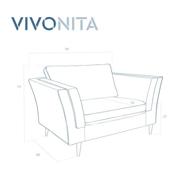 Tyrkysové  křeslo Vivonita Connor
