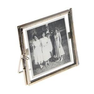 Stříbrný rámeček na fotografii Rex London Brass, 8x8cm
