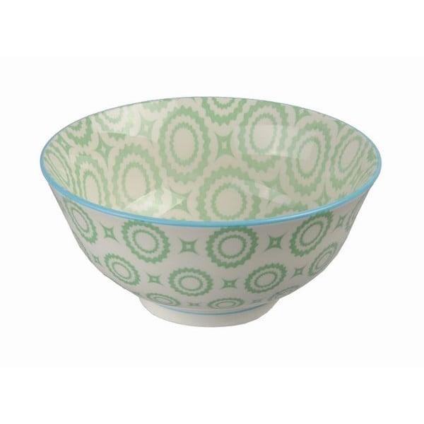 Porcelánová miska Tayo Green Flowers, 15.5 cm