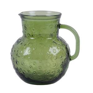 Zelený skleněný džbán EgoDekorFlora, 2,3litru