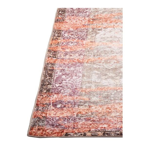 Broskvově oranžový koberec odolný proti skvrnám Webtappeti Vintage, 80x150cm