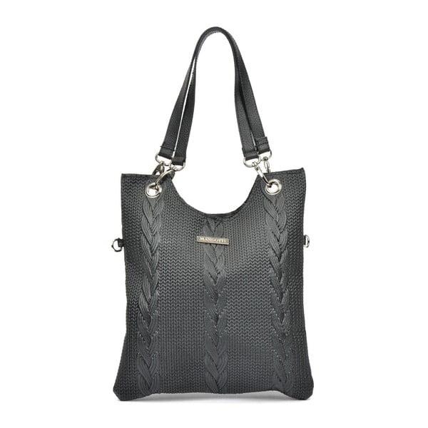 Lidia fekete bőr kézitáska - Mangotti Bags