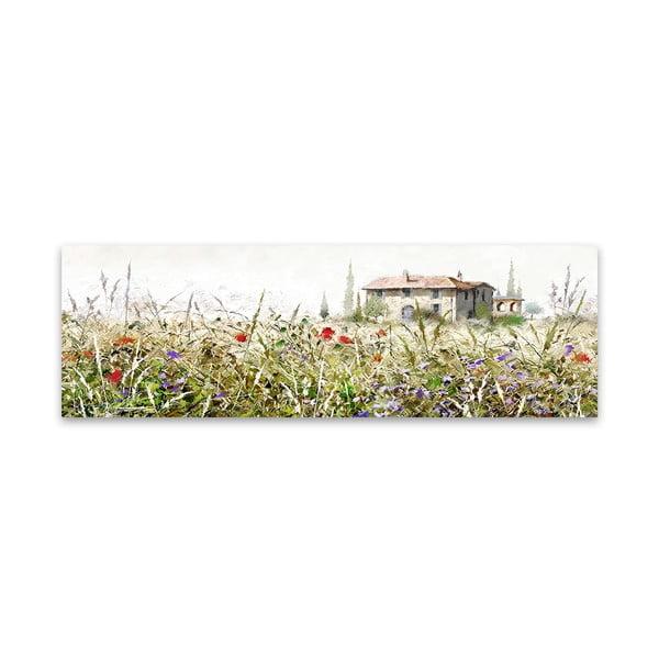 Tablou imprimat pe pânză Styler Grasses, 140 x 45 cm