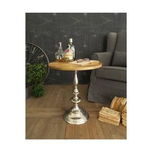 Odkládací stolek sdeskou z mangového dřeva Orchidea Milano, ⌀51cm
