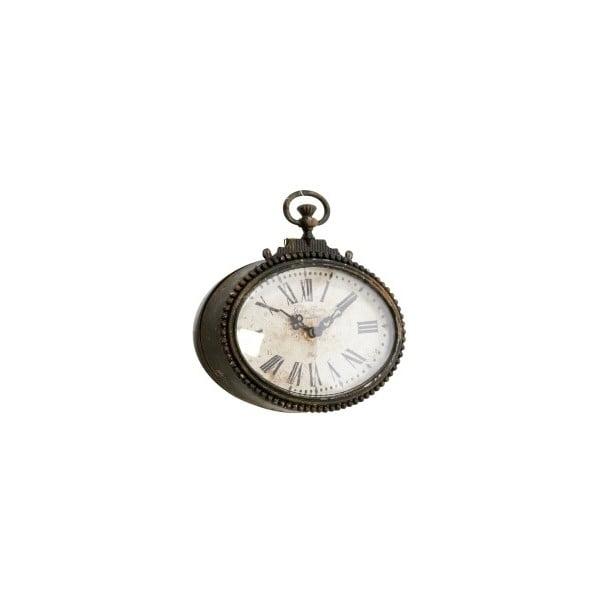 Kovové hodiny, antique, 17x17x5 cm