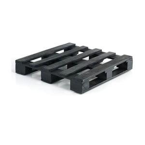 Černá dřevěná paleta kpohovce Oreste Luchettas Yantra, 80x80cm