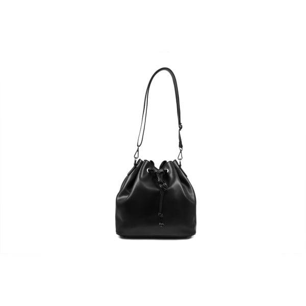 Kožená kabelka Farah, černá