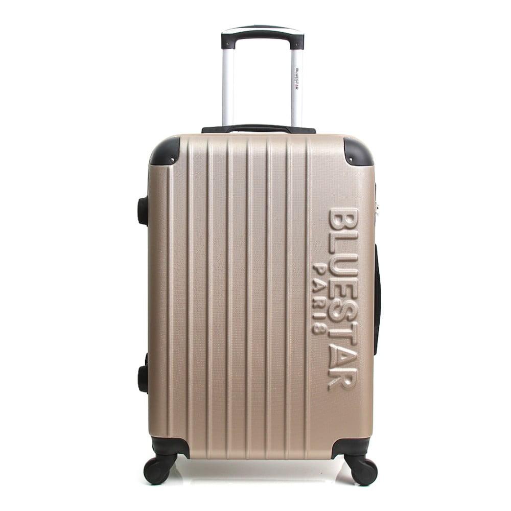 Béžový cestovní kufr na kolečkách Blue Star Bucarest, 57 l