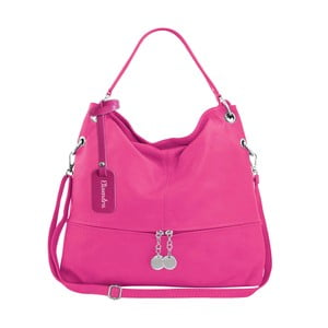 Fuchsiová kožená kabelka Maison Bag Evelyne