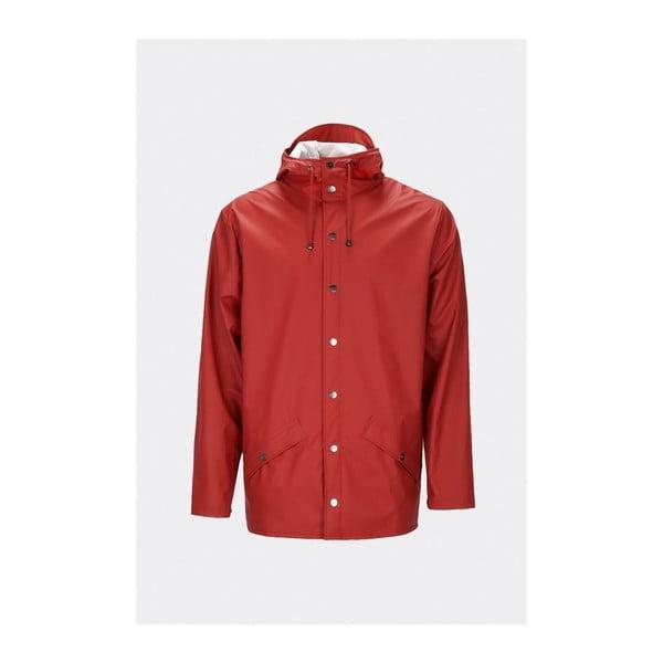 Červená unisex bunda s vysokou voděodolností Rains Jacket, velikost S/M