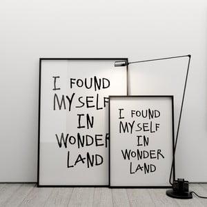 Plakát I found myself in wonderland, 50x70 cm