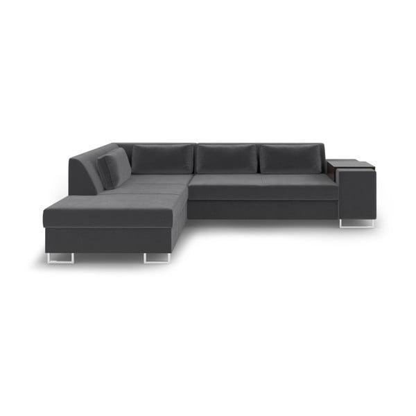 San Antonio sötétszürke kinyitható kanapé, bal oldali - Cosmopolitan Design