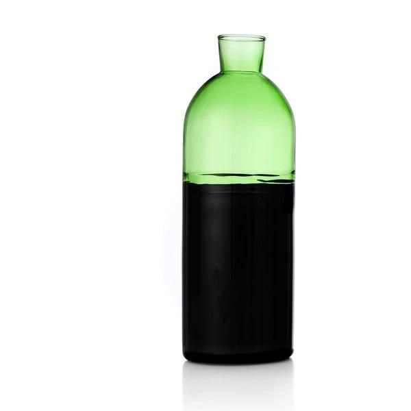 Skleněná karafa Light Green/Black