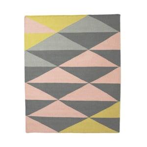 Vlněný koberec triangle 120x150 cm, žlutý