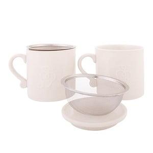 Sada 2 hrnečků se sítkem Herbal Tea