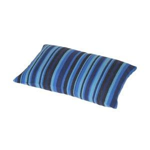 Modrý polštář Stripes