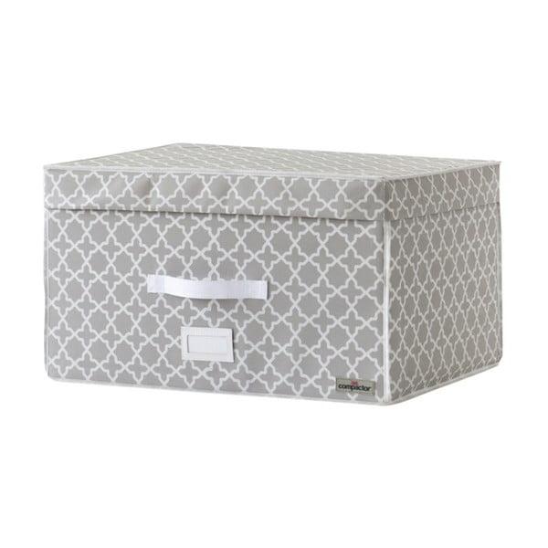 Béžový úložný box s vakuovým obalem Compactor, objem 150 l