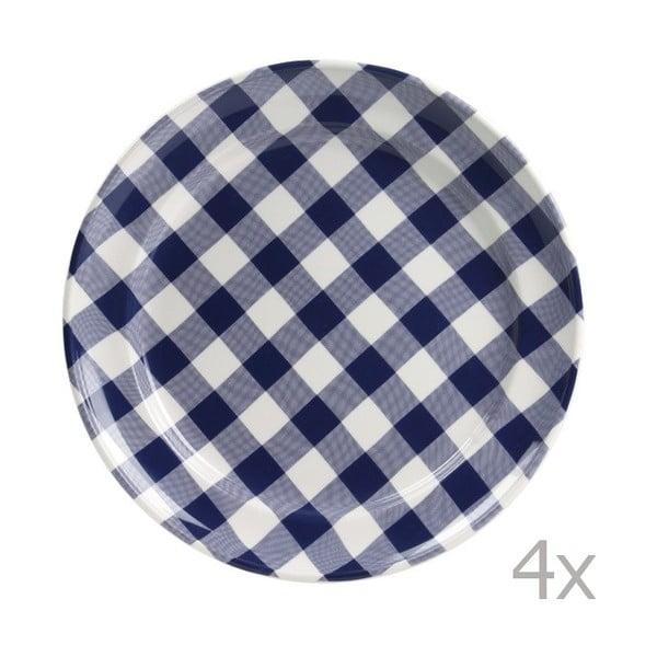 Sada 4 talířů Anne 32 cm, modrý