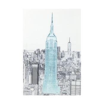 Tablou din sticlă pentru perete Kare Design Empire State Building, 120 x 80 cm de la Kare Design