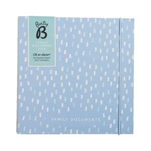 Modré desky na dokumenty Busy B Family File