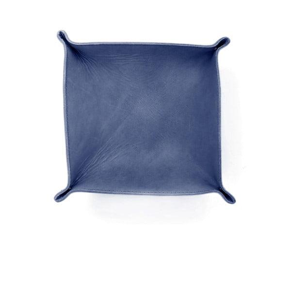 Modrý kožený košík Casa Di Bassi