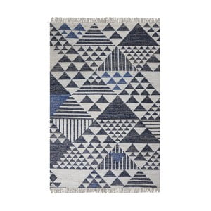 Ručně vyráběný koberec The Rug Republic Terrel Blue, 160 x 230 cm