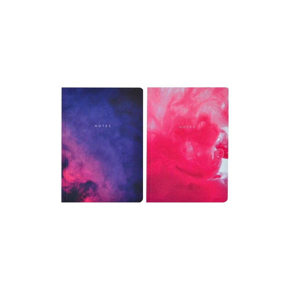 Sada 2 zápisníků A5 Portico Designs Purples Abstract,100stránek