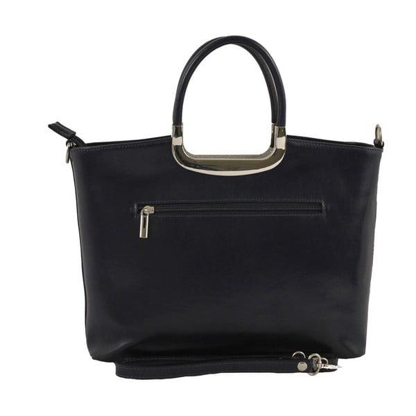 Modrá kožená kabelka Gia