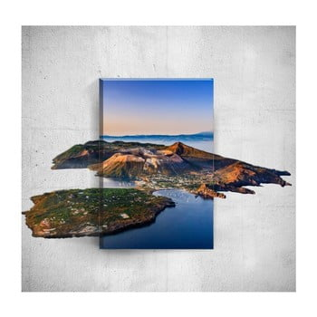 Tablou de perete 3D Mosticx Island, 40 x 60 cm