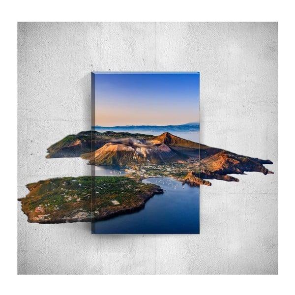 Nástěnný 3D obraz Mosticx Island, 40 x 60 cm