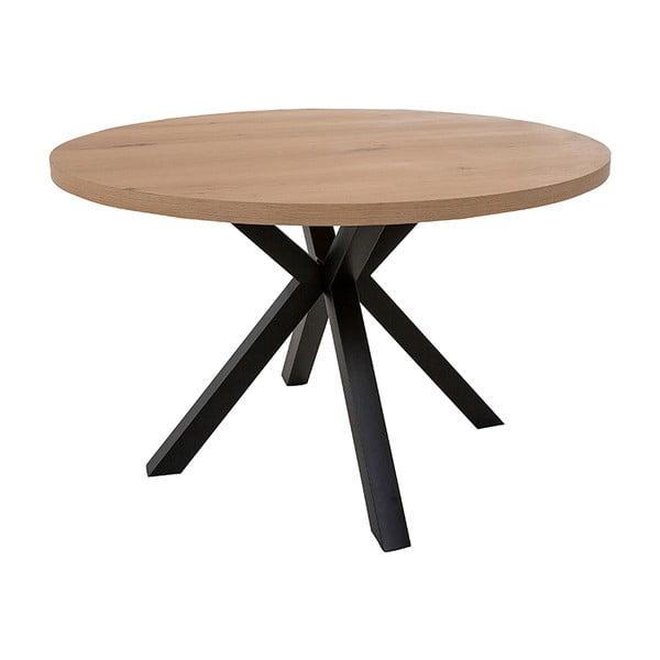Okrągły stół z czarnymi nogami Canett Maison, ø 120 cm