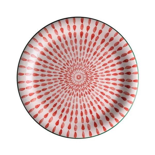 Červený tanier z dolomitu Brandani Ginger, ⌀ 27 cm