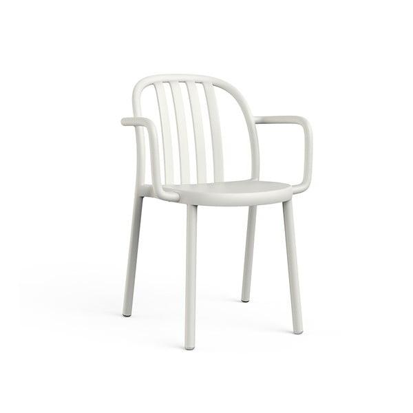 Set 2 scaune de grădină cu cotierei Resol Sue, alb