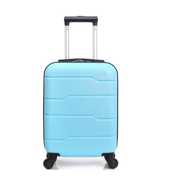 Santiago türkizkék gurulós bőrönd, 30 l - Hero