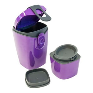 Svačinový box Compleat Energy Booster, fialový