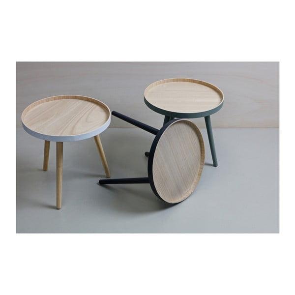 Odkládací stolek s antracitově šedou konstrukcí WOOOD Sasha
