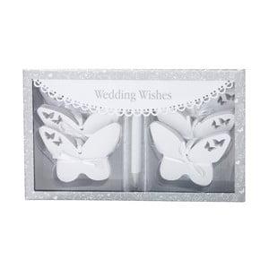 Sada 54 kartiček na psaní svatebních přáníček Butterflies