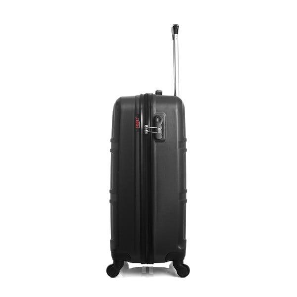 Černý cestovní kufr na kolečkách Hero Utah, 60 l