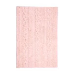 Růžový bavlněný ručně vyráběný koberec Lorena Canals Braids, 80x120cm