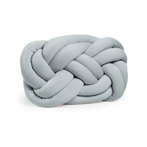 Šedý dekorativní polštář Knot Rectangle, 50x32cm