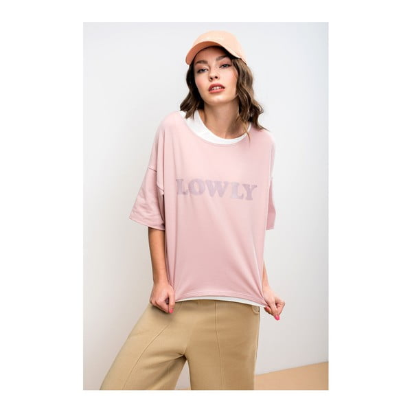 Tricou damă Lull Lowly, L, roz deschis