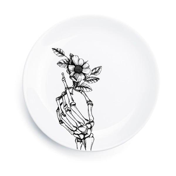 Porcelánový talíř Skeleton, 25 cm