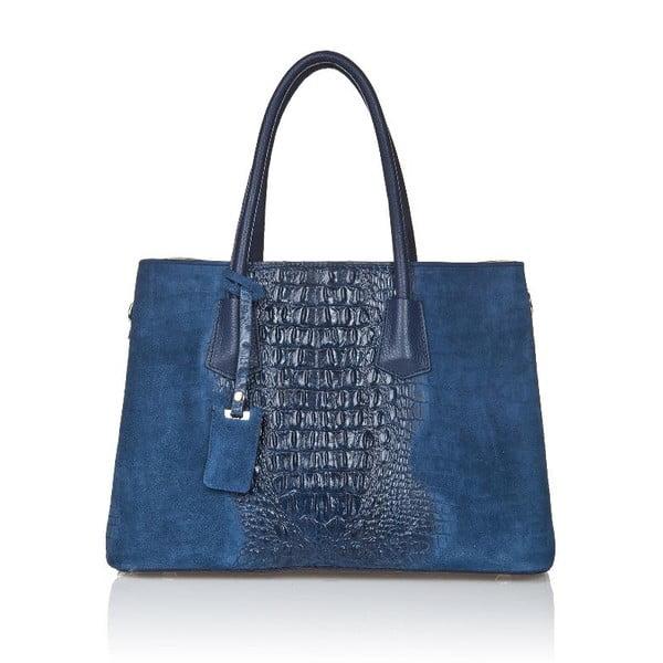 Modrá kožená kabelka Markese Procris