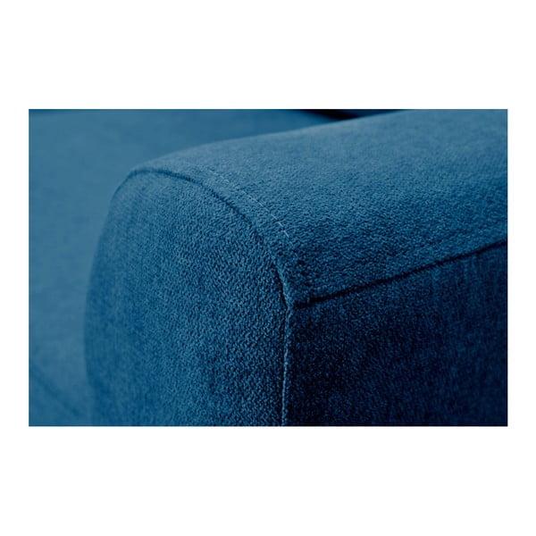 Tyrkysová rozkládací pohovka se světlými nohami Mazzini Sofas Tulipe, levý roh