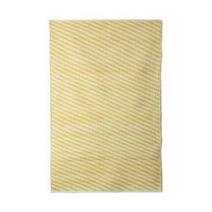 Žlutý bavlněný ručně tkaný koberec Pipsa Diagonal, 140x200 cm
