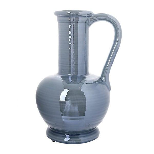 Modrá keramická váza InArt Argi