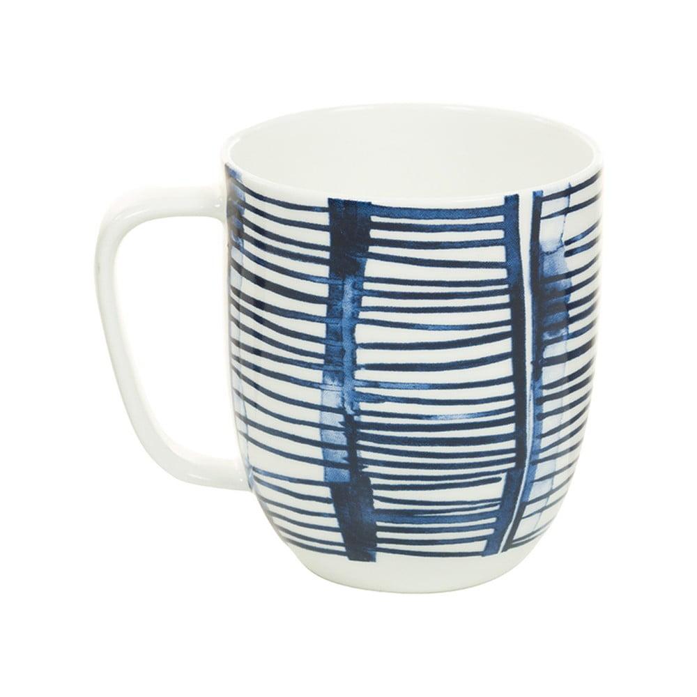 Modrobílý porcelánový hrneček Santiago Pons Aqua, 380 ml