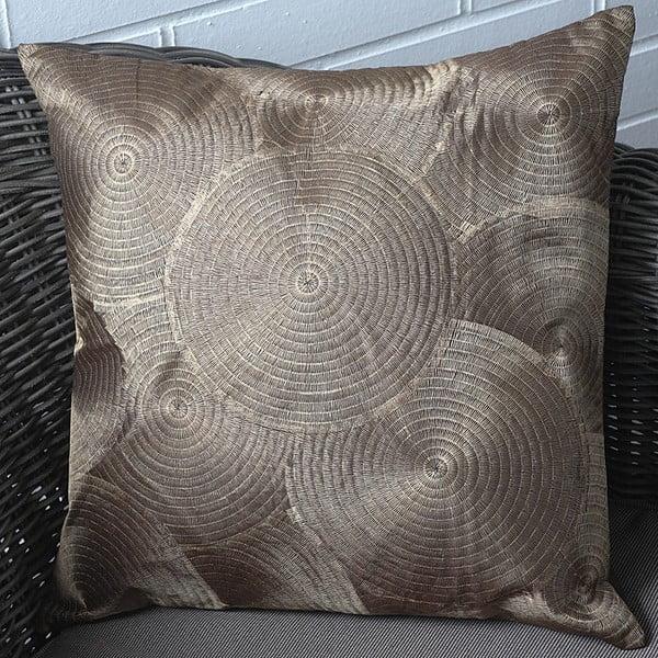 Povlak na polštář Circles 45x45 cm, zlatavý