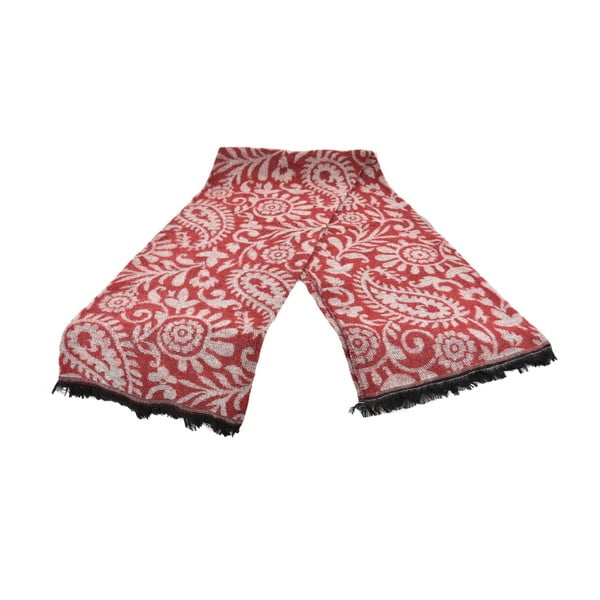 Czerwony damski szal z domieszką bawełny Dolce Bonita Otantic Mini, 170x90 cm